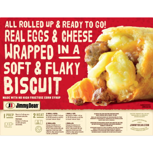 Jimmy Dean® Sausage Egg & Cheese Biscuit Roll-Ups Perspective: back