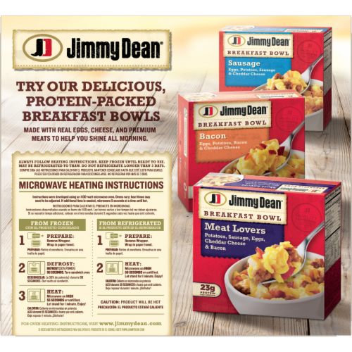 Jimmy Dean® Sausage Egg & Cheese Biscuit Sandwiches Perspective: back