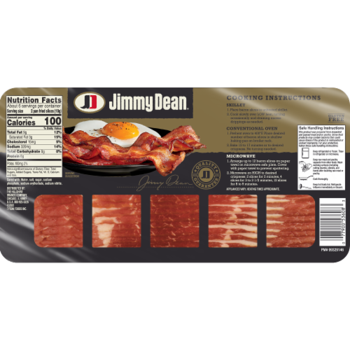 Jimmy Dean Premium Applewood Smoked Bacon Perspective: back