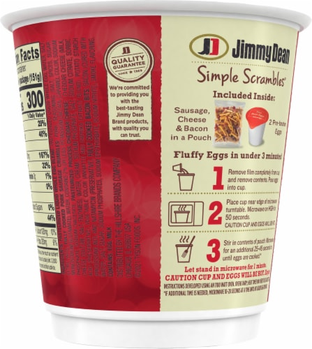Jimmy Dean Meat Lovers Simple Scrambles Perspective: back
