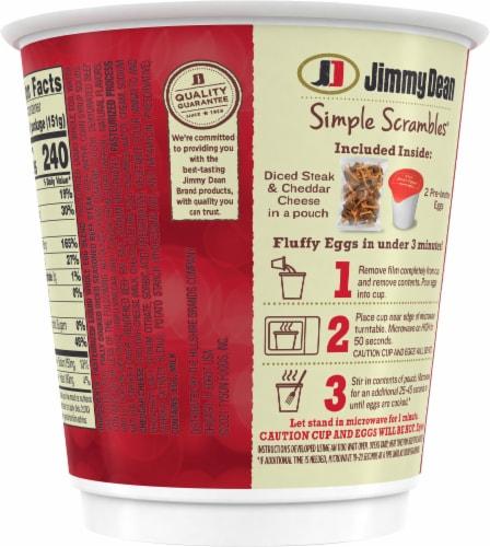 Jimmy Dean Simple Scrambles® Steak & Cheddar Breakfast Cup Perspective: back