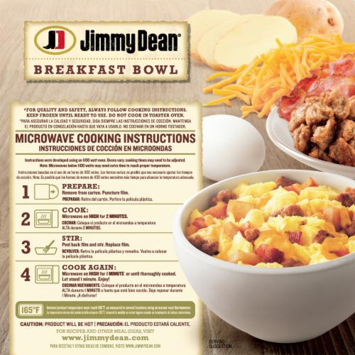 Jimmy Dean Meat Lovers Breakfast Bowl Frozen Meal Perspective: back