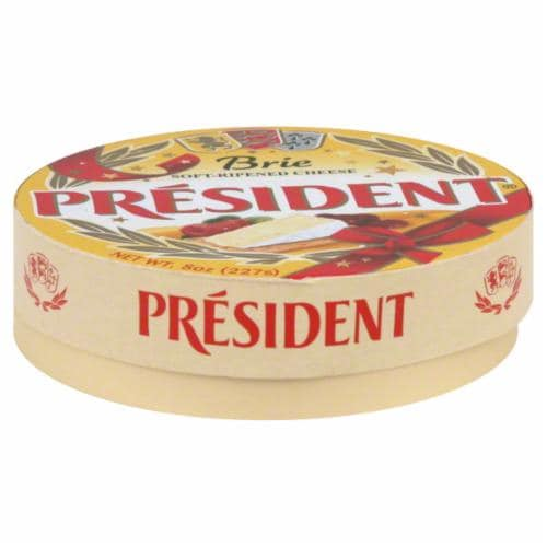 President Brie Cheese Wheel Perspective: back