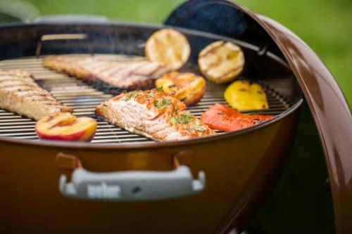 "Weber® Original Kettle™ Premium 22"" Charcoal Grill - Copper Perspective: back"
