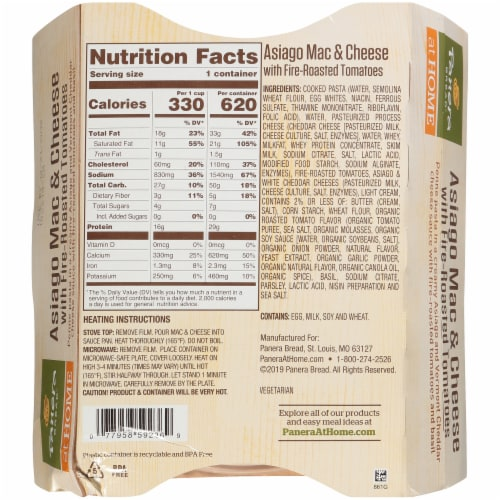 Panera Bread® at Home Asiago Mac & Cheese with Fire Roasted Tomatoes Perspective: back