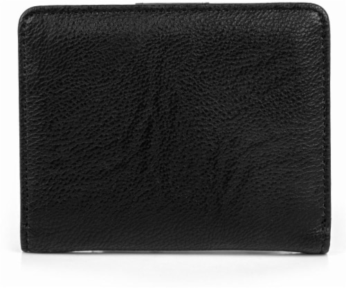 Mundi Women's Mini Bifold Wallet - Black Perspective: back
