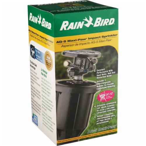 Rain Bird 3 In. Full or Partial Circle Deluxe Pop-Up Impact Head Sprinkler AG-5 Perspective: back