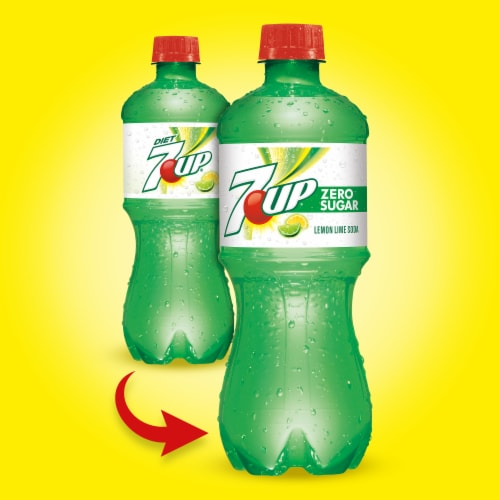 7UP Zero Sugar Lemon-Lime Soda Perspective: back