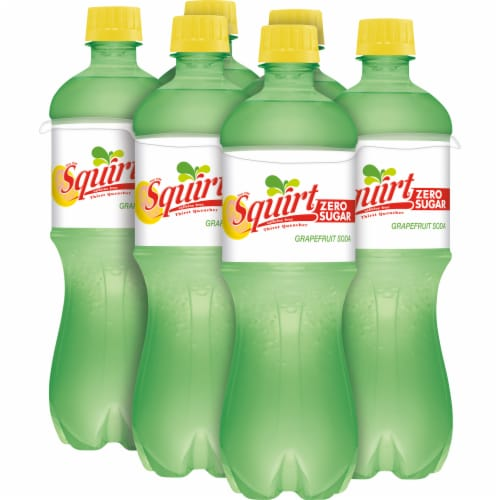 Squirt Zero Sugar Grapefruit Soda Perspective: back