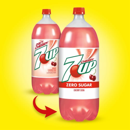 Diet 7UP Cherry Soda Perspective: back