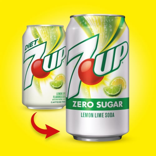 7UP Zero Sugar Lemon-Lime Soda Perspective: back