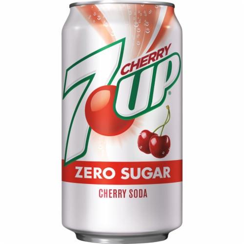 7UP Zero Sugar Cherry Soda Perspective: back