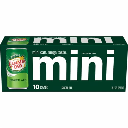 Canada Dry Ginger Ale Mini Cans Perspective: back
