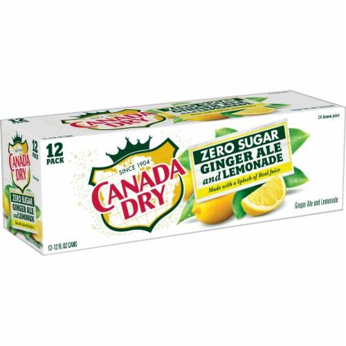 Canada Dry Zero Sugar Ginger Ale and Lemonade Soda Perspective: back