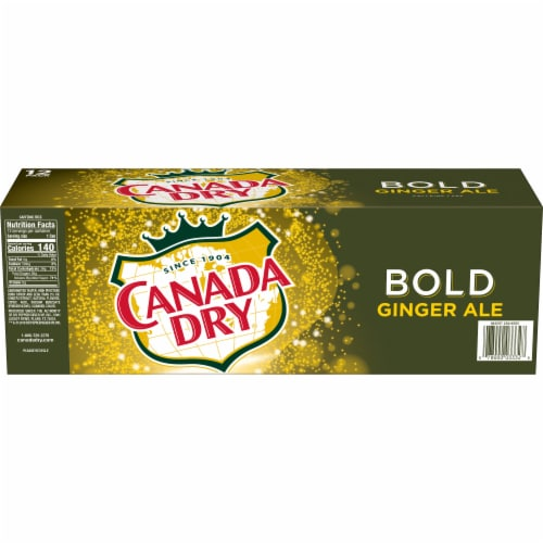 Canada Dry Caffeine Free Bold Ginger Ale Perspective: back