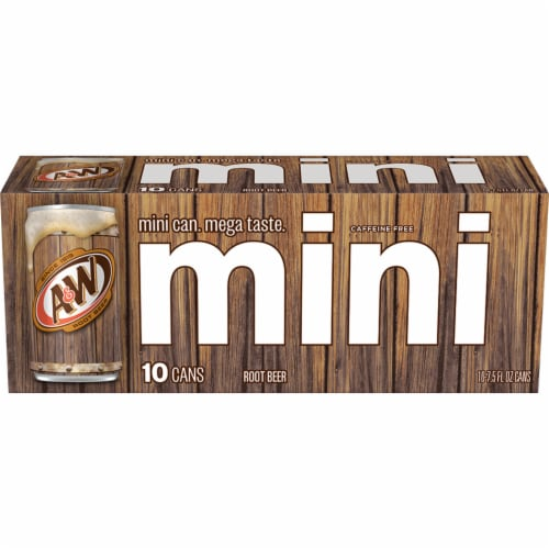 A&W Mini Root Beer Soda Perspective: back