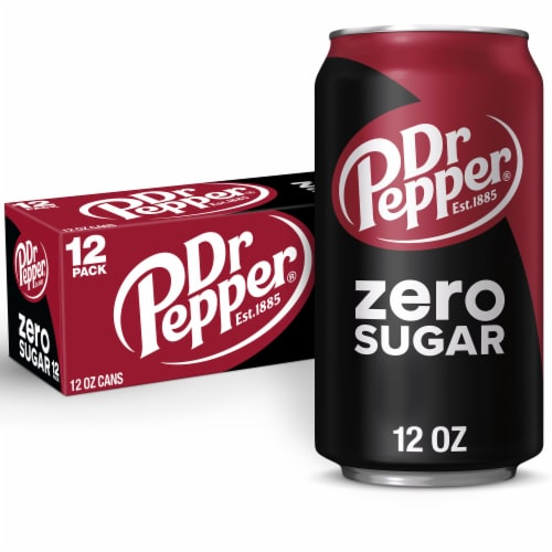 Dr Pepper Zero Sugar Soda Perspective: back