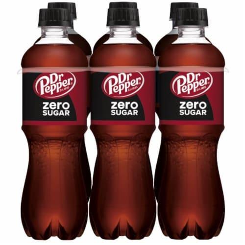 Dr Pepper Zero Sugar Soda Perspective: back