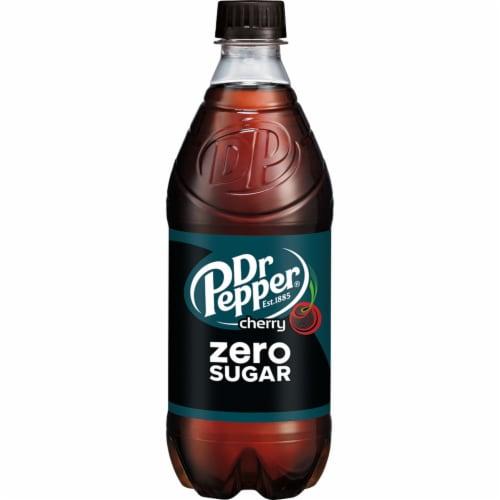 Dr Pepper Zero Sugar Cherry Soda Perspective: back