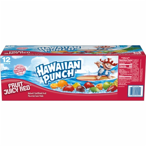 Hawaiian Punch Fruit Juicy Red Juice Drink Perspective: back