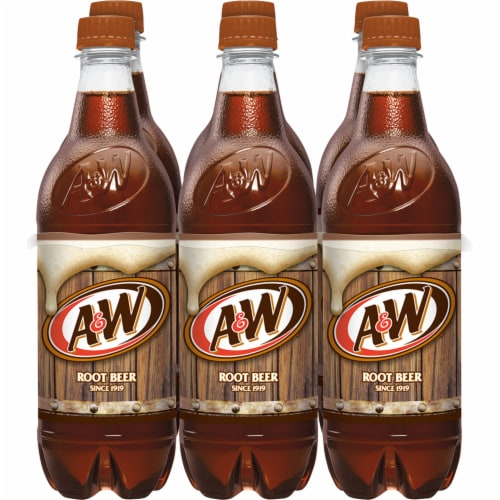 A&W Root Beer Soda Perspective: back
