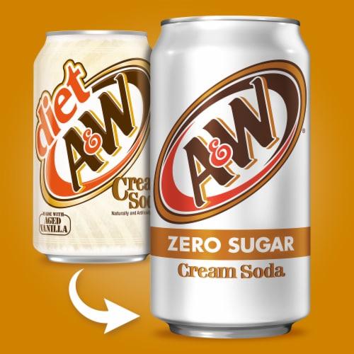 A&W Cream Zero Sugar Soda Perspective: back
