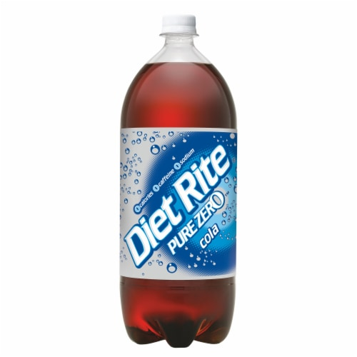 Diet Rite Pure Zero Cola Soda Perspective: back