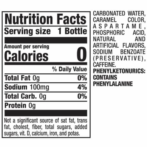Diet Dr Pepper Soda Perspective: back
