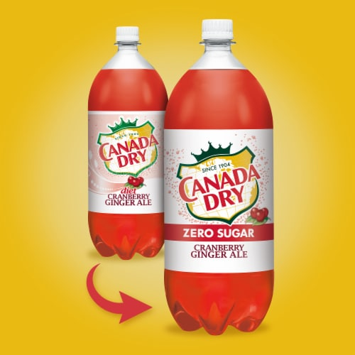 Canada Dry Diet Cranberry Ginger Ale Perspective: back