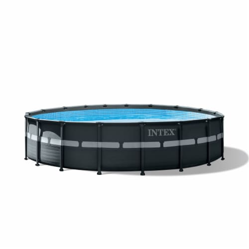 Intex 18Ft x 52In Ultra XTR Frame Round Above Ground Swimming Pool Set with Pump Perspective: back