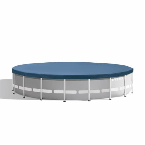 Intex 20ft x 52in Prism Frame Above Ground Swimming Pool Set with Filter Pump Perspective: back