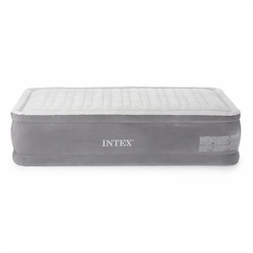 Intex 64411E Comfort Dura-Beam Elevated Air Mattress with Built-In Pump, Twin Perspective: back