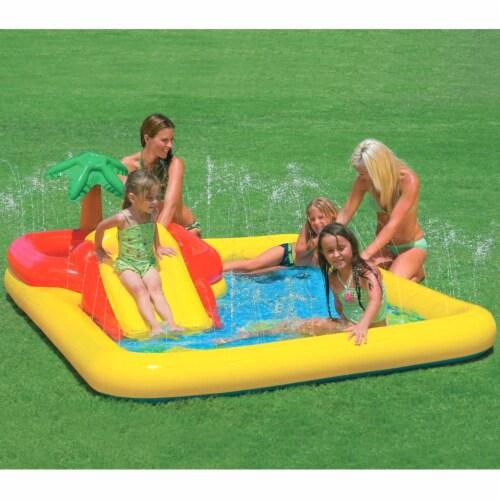 Intex Inflatable Ocean Play Center Kids Backyard Kiddie Pool & Games Perspective: back