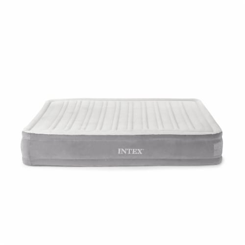 Intex Dura Beam Plus Series Mid Rise Airbed Mattress with Built In Pump, Queen Perspective: back