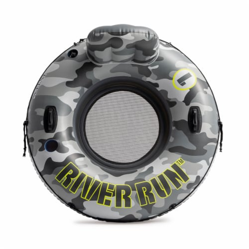 Intex 56835EP River Run I Camo Inflatable Floating Tube Raft with Cup Holders Perspective: back