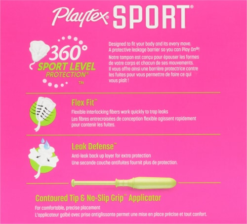 Playtex Sport Unscented Super Tampons Perspective: back