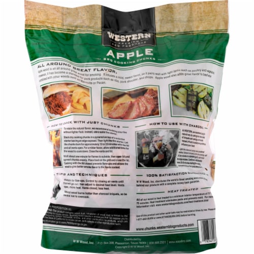 Western® Apple BBQ Cooking Chunks Perspective: back