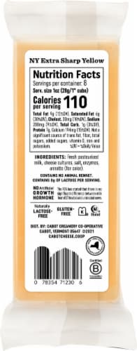 Cabot® NY Cheddar Extra Sharp Yellow Cheese Perspective: back
