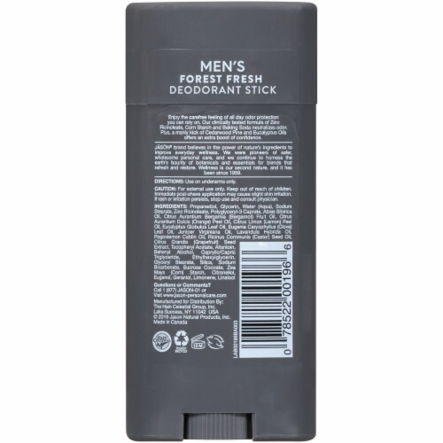 Jason Men's Forest Fresh Deodorant Stick Perspective: back