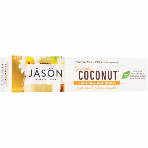 Jason Simply Coconut Soothing Toothpaste Perspective: back