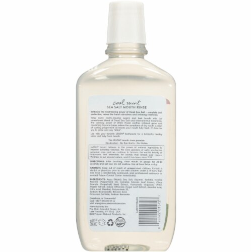 Jason Total Protection Cool MInt Sea Salt Mouth Rinse Perspective: back