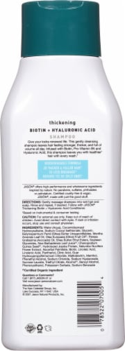 Jason Thicken & Restore Biotin + Hyaluronic Acid Shampoo Perspective: back