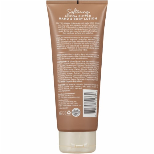 Jason Cocoa Butter Hand & Body Lotion Perspective: back
