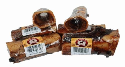 "Smokehouse 5"" Meaty Round Dog Bone Perspective: back"