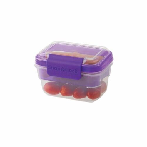Progressive International Snaplock 2 Cup Capacity Snack To Go Plastic Container Perspective: back