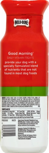 Milk Bone Good Morning Total Wellness Daily Vitamin Dog Treats Perspective: back