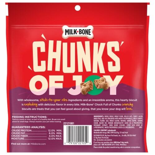 Milk-Bone Chock Full of Chunks Turkey & Bacon Dog Treats Perspective: back