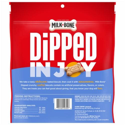 Milk-Bone Dipped Peanut Butter Dog Biscuit Snacks Perspective: back