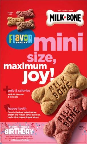 Milk-Bone Mini's Flavor Snacks Dog Treats Perspective: back