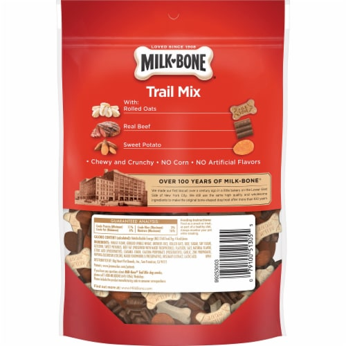 Milk-Bone Trail Mix Dog Treats Perspective: back